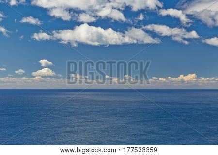 Distant horizon at high seas