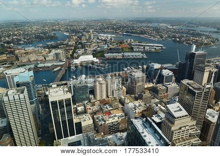 Urban buildings in the city centre, Sydney