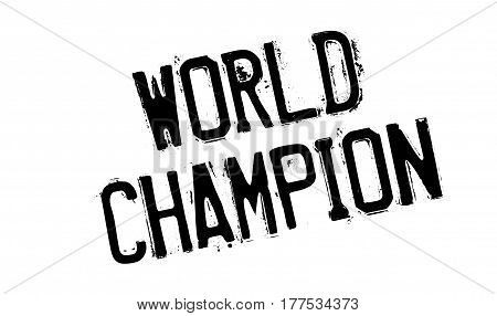 World Champion rubber stamp. Grunge design with dust scratches. Effects can be easily removed for a clean, crisp look. Color is easily changed.
