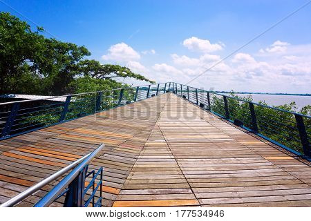 Boardwalk on the waterfront in Guayaquil Ecuador