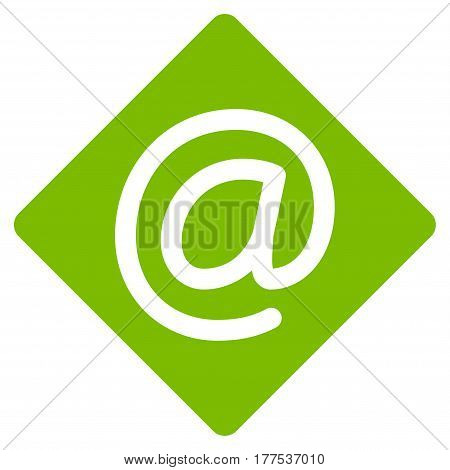 Email vector icon. Flat eco green symbol. Pictogram is isolated on a white background. Designed for web and software interfaces.