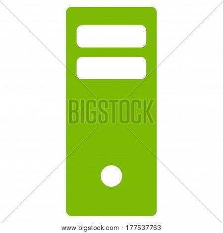 Server Mainframe vector icon. Flat eco green symbol. Pictogram is isolated on a white background. Designed for web and software interfaces.