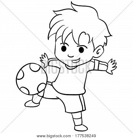 Collection of kid playing football vector illustration