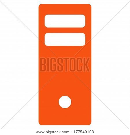 Server Mainframe vector icon. Flat orange symbol. Pictogram is isolated on a white background. Designed for web and software interfaces.