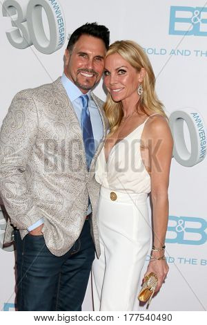 LOS ANGELES - MAR 19:  Don Diamont, Cindy Ambuehl at the