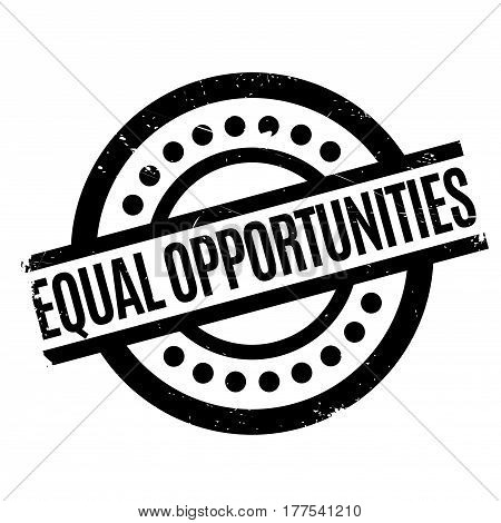 Equal Opportunities rubber stamp. Grunge design with dust scratches. Effects can be easily removed for a clean, crisp look. Color is easily changed.