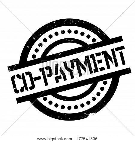 Co-Payment rubber stamp. Grunge design with dust scratches. Effects can be easily removed for a clean, crisp look. Color is easily changed.