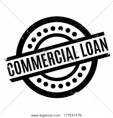 Commercial Loan rubber stamp. Grunge design with dust scratches. Effects can be easily removed for a clean, crisp look. Color is easily changed.