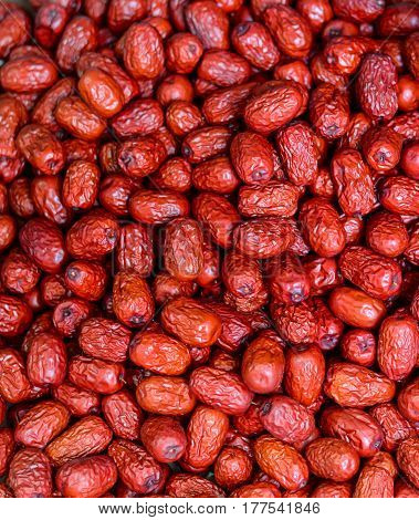 Red Date Dried Fruits Background