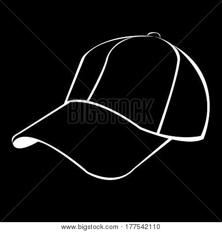 hat, cap, baseball, fashion, uniform, vector, sport, white, illustration, clothing