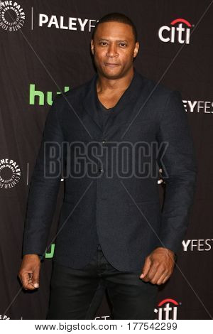 LOS ANGELES - MAR 18:  David Ramsey at the 34th Annual PaleyFest Los Angeles - The CW at Dolby Theater on March 18, 2017 in Los Angeles, CA