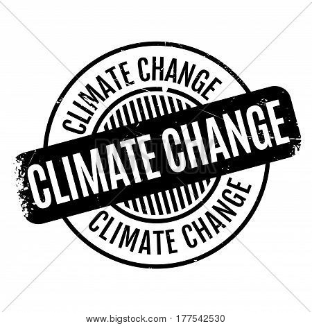 Climate Change rubber stamp. Grunge design with dust scratches. Effects can be easily removed for a clean, crisp look. Color is easily changed.