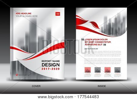 Annual report brochure flyer template Red cover design business newsletter book magazine ads bookletcatalog infographics