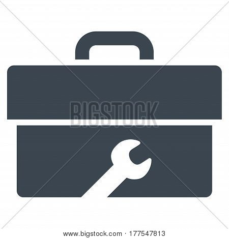 Toolbox vector icon. Flat smooth blue symbol. Pictogram is isolated on a white background. Designed for web and software interfaces.