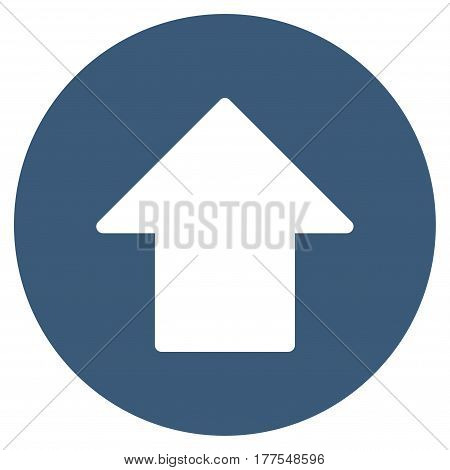 Up Arrow vector icon. Flat blue symbol. Pictogram is isolated on a white background. Designed for web and software interfaces.