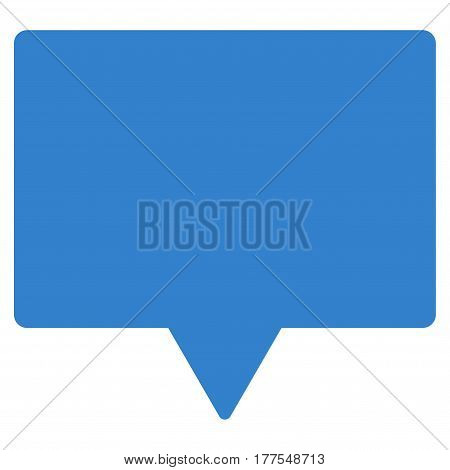 Banner vector icon. Flat cobalt symbol. Pictogram is isolated on a white background. Designed for web and software interfaces.