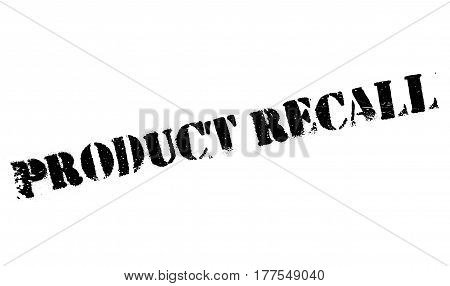 Product Recall rubber stamp. Grunge design with dust scratches. Effects can be easily removed for a clean, crisp look. Color is easily changed.