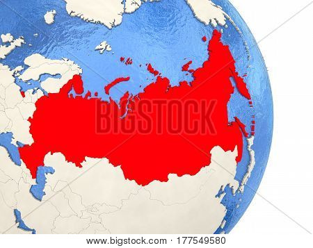 Russia On Model Of Political Globe