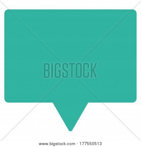Banner vector icon. Flat cyan symbol. Pictogram is isolated on a white background. Designed for web and software interfaces.