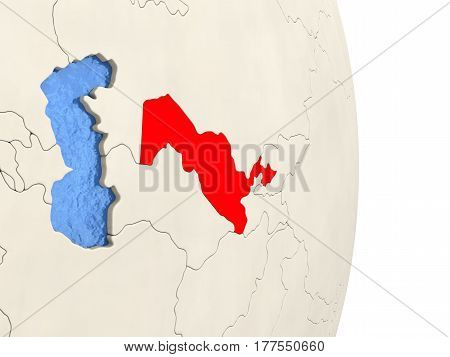 Uzbekistan On Model Of Political Globe