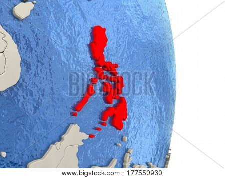 Philippines On Model Of Political Globe