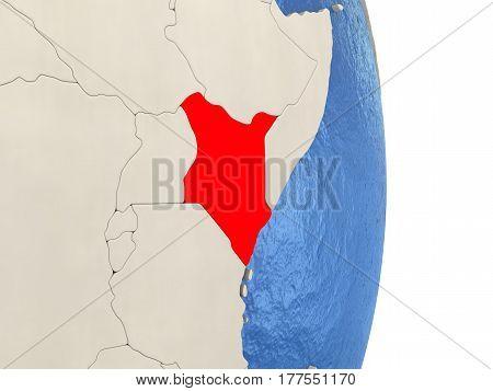 Kenya On Model Of Political Globe
