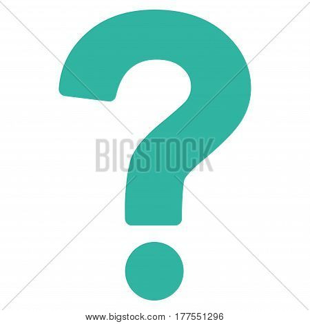 Question vector icon. Flat cyan symbol. Pictogram is isolated on a white background. Designed for web and software interfaces.