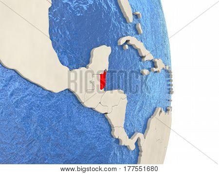 Belize On Model Of Political Globe