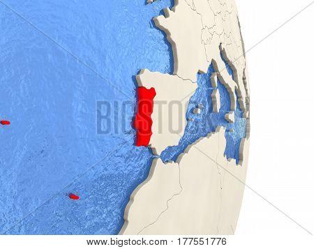 Portugal On Model Of Political Globe
