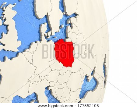 Poland On Model Of Political Globe