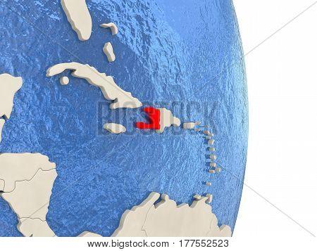 Haiti On Model Of Political Globe