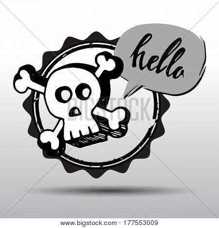 death, skull, vector, dead, skeleton, halloween, illustration, cartoon, horror