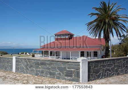 Cape Town South Africa - March 03 2017: Robben Island guest house previously the British Commissioner's residence