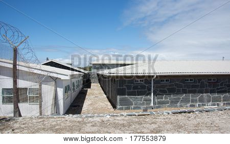 Cape Town South Africa - March 03 2017: Robben Island Prison where Nelson Mandela was incarcerated