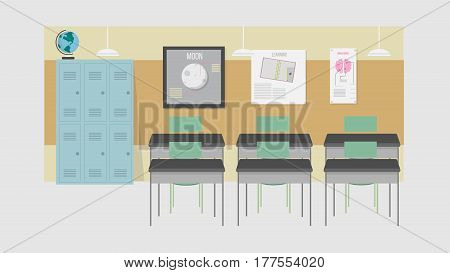 Back Class Vector Illustration | Conceptual background design vector | Use for education, school, learning, knowledge and much more. The set can be used for several purposes like: websites, print templates, presentation templates, and promotional material