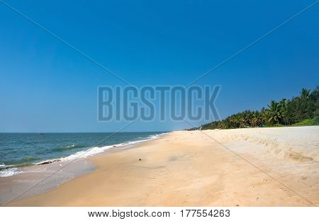 Summer Exotic Sandy Beach Kerala