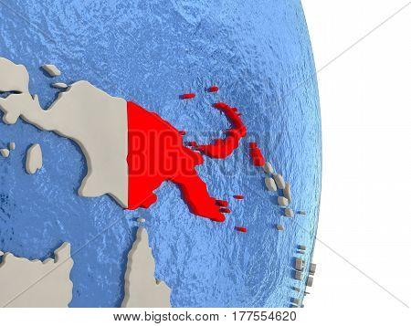 Papua New Guinea On Model Of Political Globe