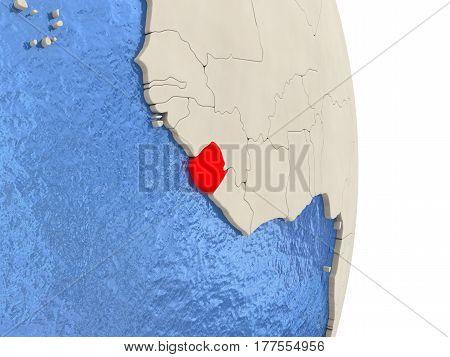Sierra Leone On Model Of Political Globe