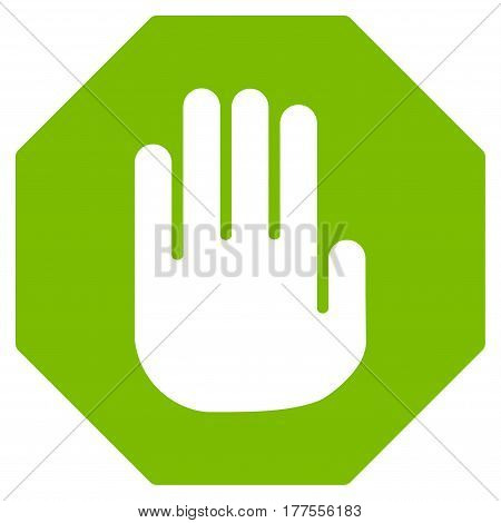 Terminate vector icon. Flat eco green symbol. Pictogram is isolated on a white background. Designed for web and software interfaces.