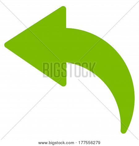 Undo vector icon. Flat eco green symbol. Pictogram is isolated on a white background. Designed for web and software interfaces.