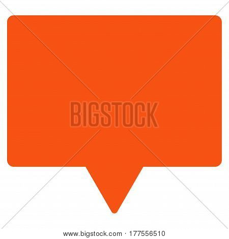 Banner vector icon. Flat orange symbol. Pictogram is isolated on a white background. Designed for web and software interfaces.