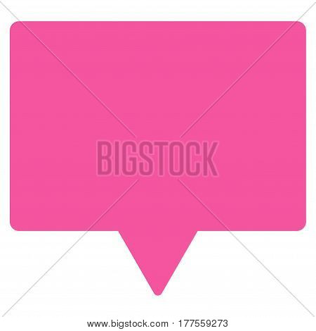 Banner vector icon. Flat pink symbol. Pictogram is isolated on a white background. Designed for web and software interfaces.