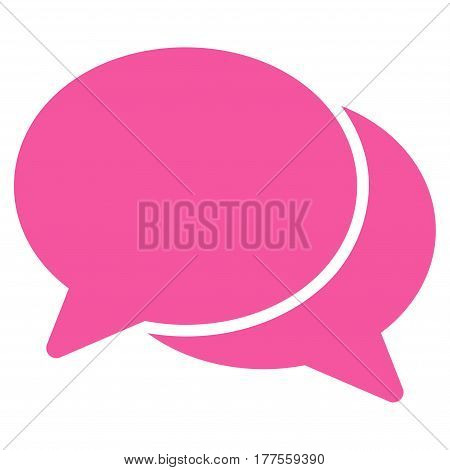 Chat vector icon. Flat pink symbol. Pictogram is isolated on a white background. Designed for web and software interfaces.