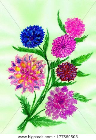 Colorful Flowers Art