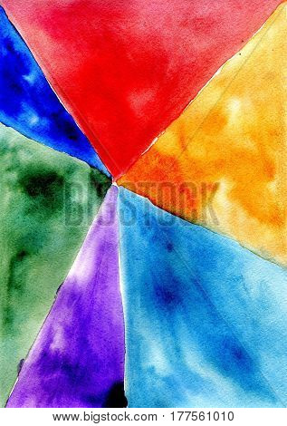 Painted Polygonal Background