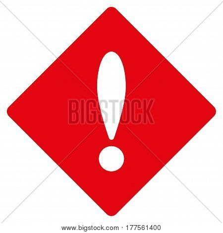 Error vector icon. Flat red symbol. Pictogram is isolated on a white background. Designed for web and software interfaces.