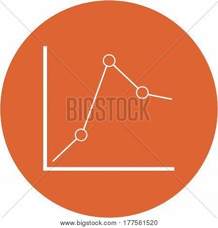 Orange Trends Design In A Flat Round Button