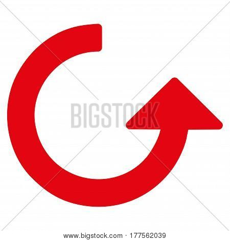 Rotate vector icon. Flat red symbol. Pictogram is isolated on a white background. Designed for web and software interfaces.