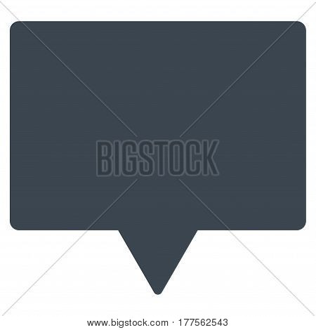 Banner vector icon. Flat smooth blue symbol. Pictogram is isolated on a white background. Designed for web and software interfaces.