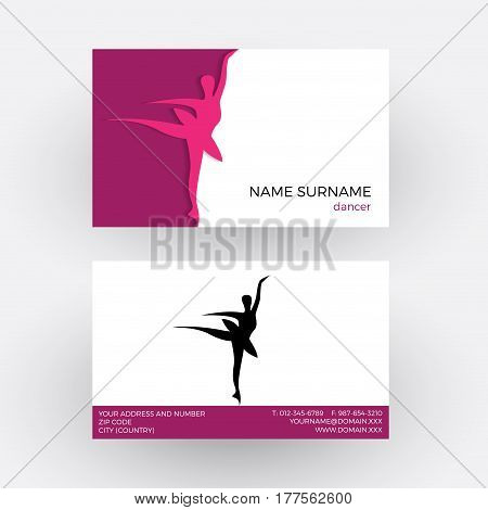 Vector abstract classic dancer. professiona Business card